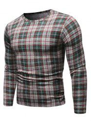 Plaid Pattern Casual Pullover Sweater -