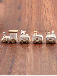Christmas Ornaments Wooden Train Toy -