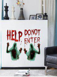 Halloween Help Blood Ghost Hand Wall Sticker -
