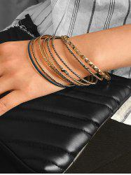 8 Piece Simple Thin Bangle Set -