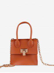 Hasp Square Solid Chain Shoulder Bag -