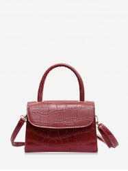 Leather Square Simple Solid Coin Crossbody Bag -