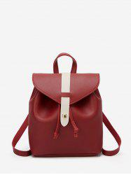 Portable Leather String Mini Backpack -