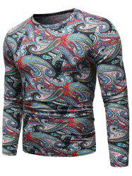 Ethnic Paisley Pattern Long-sleeved Sweater -
