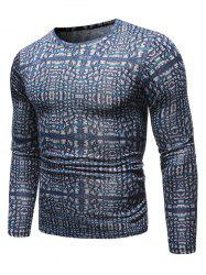 Novelty Printed Round Neck Sweater -