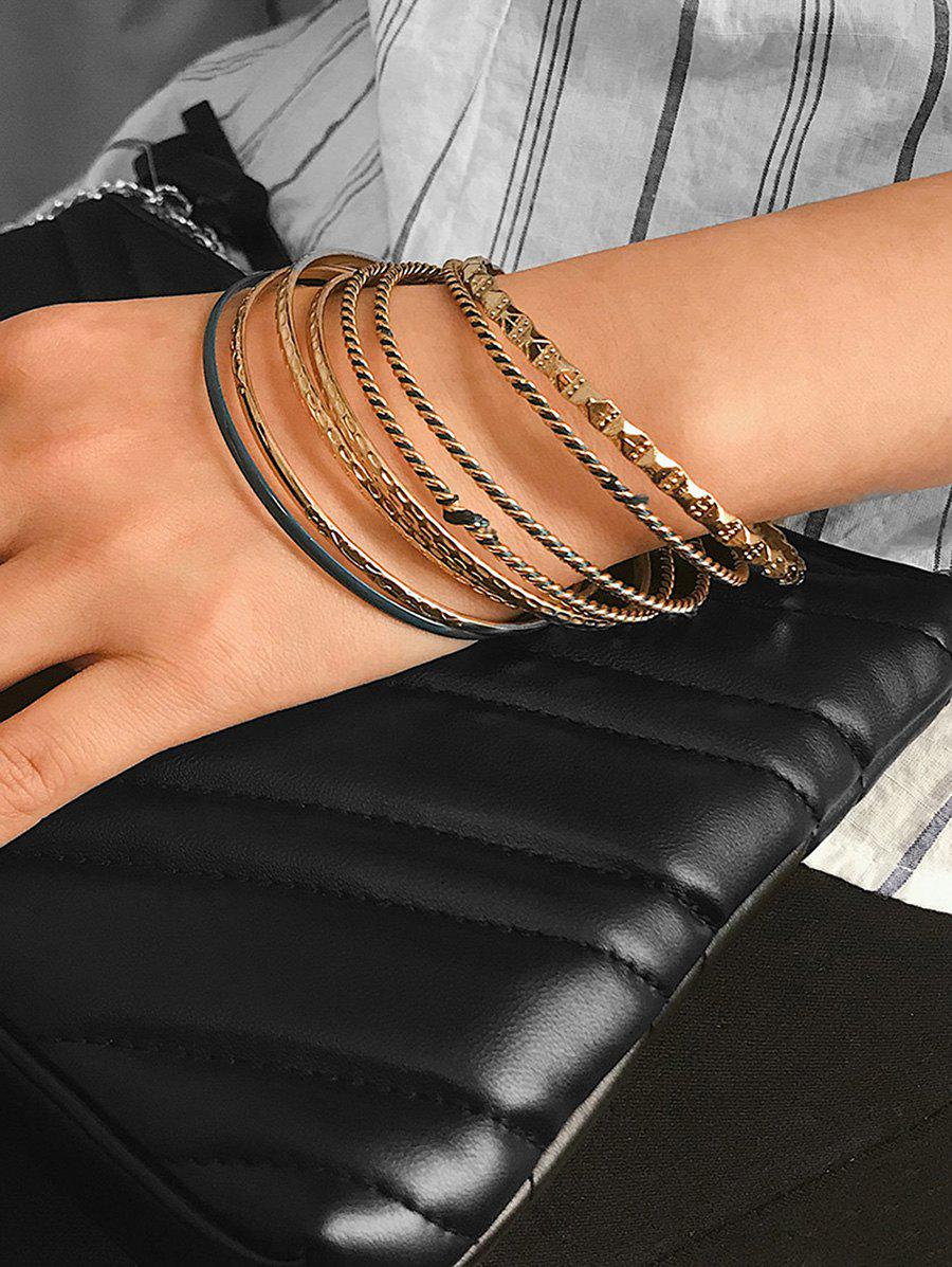 Affordable 8 Piece Simple Thin Bangle Set