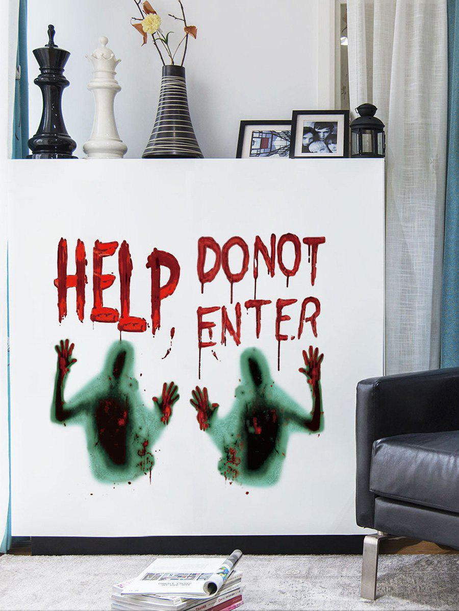 Trendy Halloween Help Blood Ghost Hand Wall Sticker
