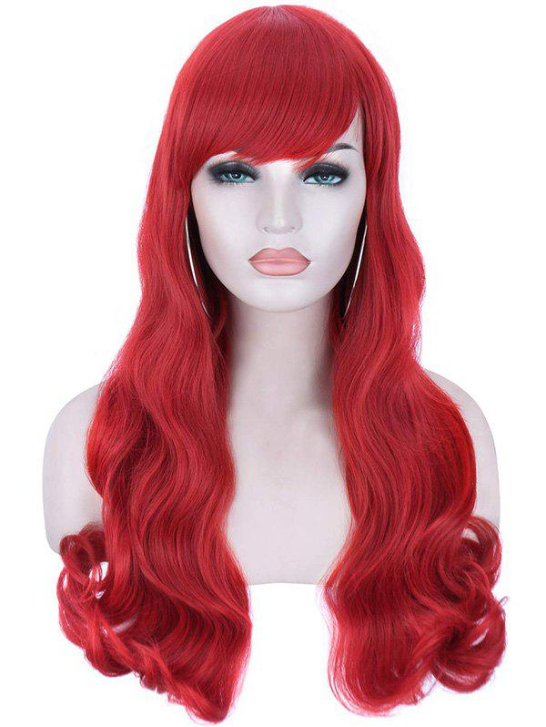 New Christmas Long Synthetic Wavy Side Bang Cosplay Wigs