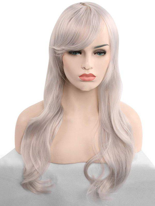 Discount Christmas Long Synthetic Wavy Side Bang Cosplay Wigs