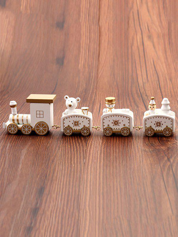 Discount Christmas Ornaments Wooden Train Toy