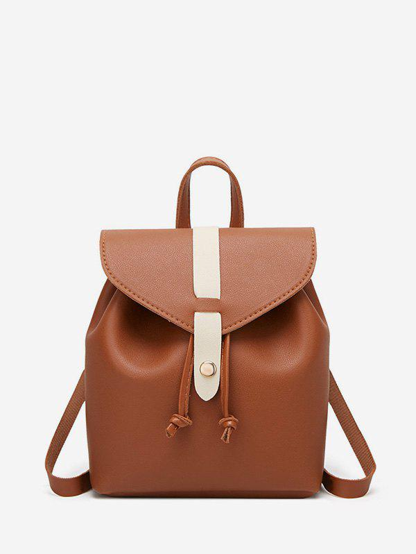 Outfit Portable Leather String Mini Backpack