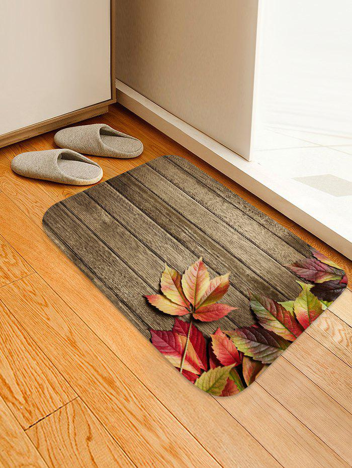 Store Maple Leaf Wooden Pattern Floor Rug