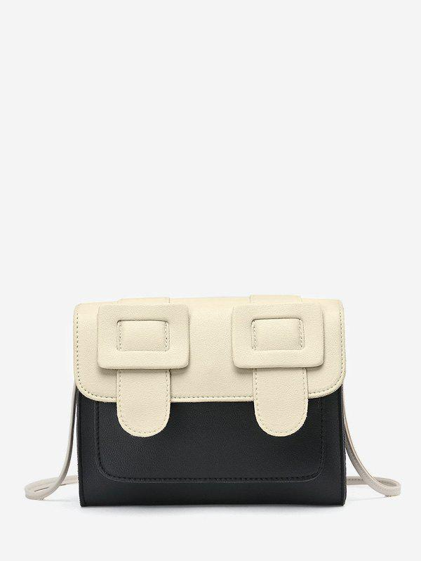 Fashion Double Buckle Design Square Small Shoulder Bag