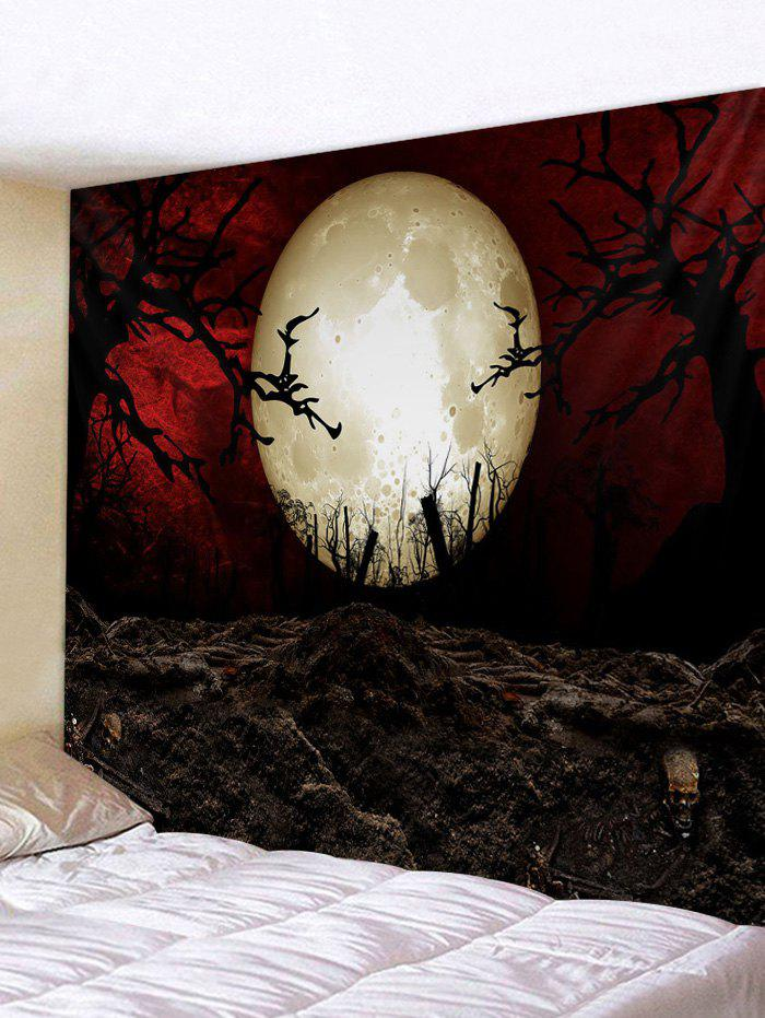 Outfit Halloween Moon Night Printed Tapestry