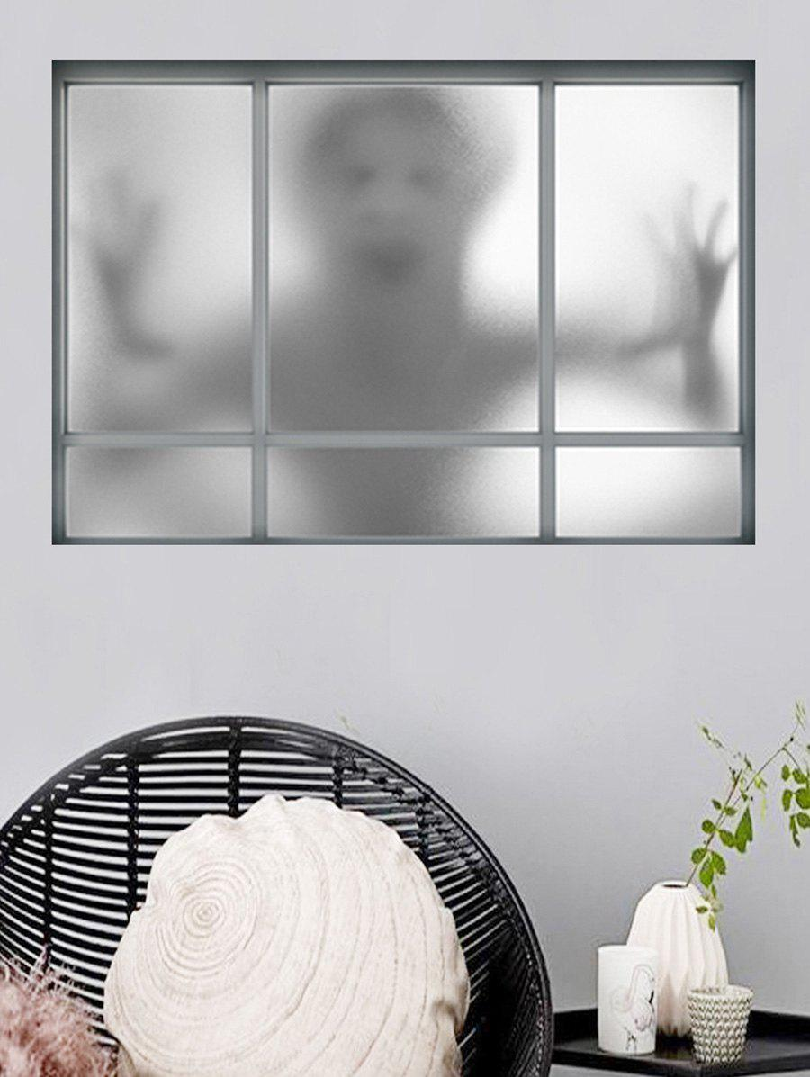 Shops Halloween Ghost Window Pattern Wall Sticker