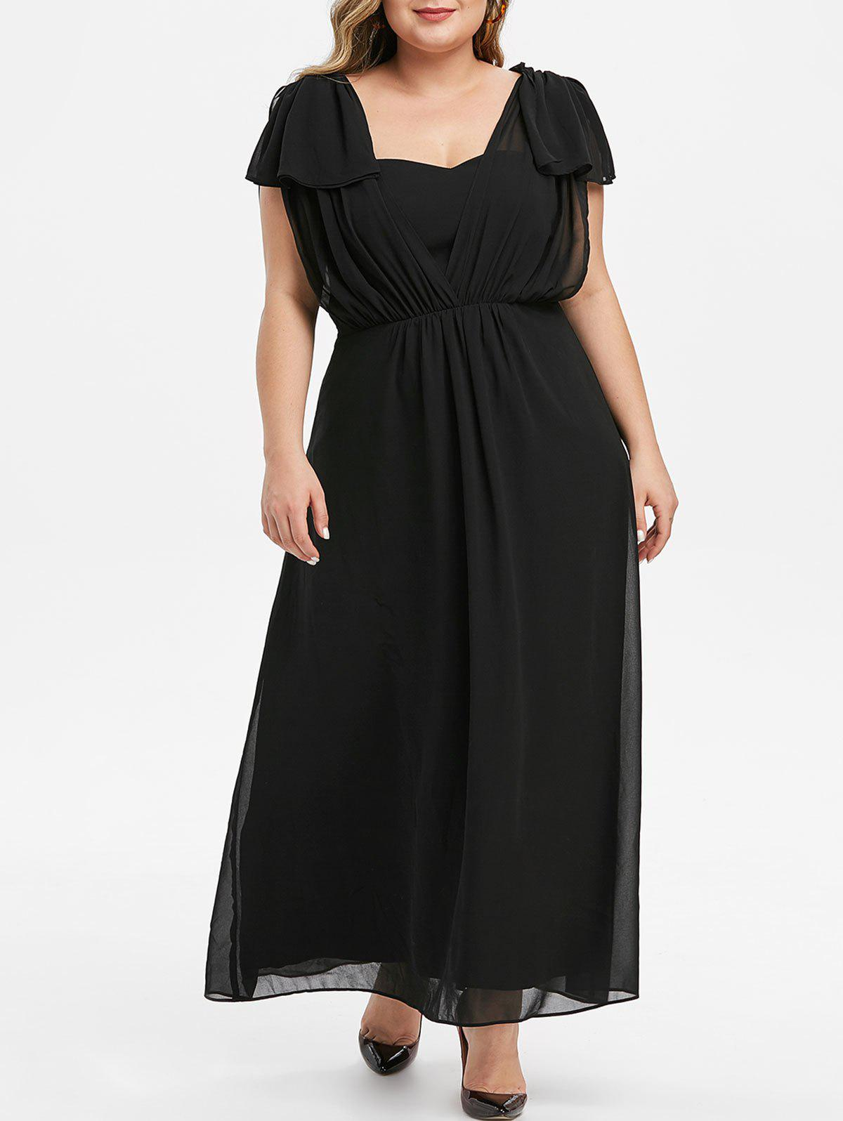 Affordable Plus Size Maxi Prom Dress