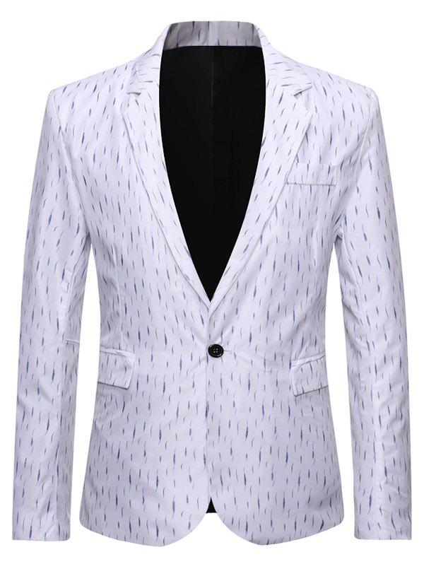 Buy Single Button Slim Fit Lapel Collar Blazer