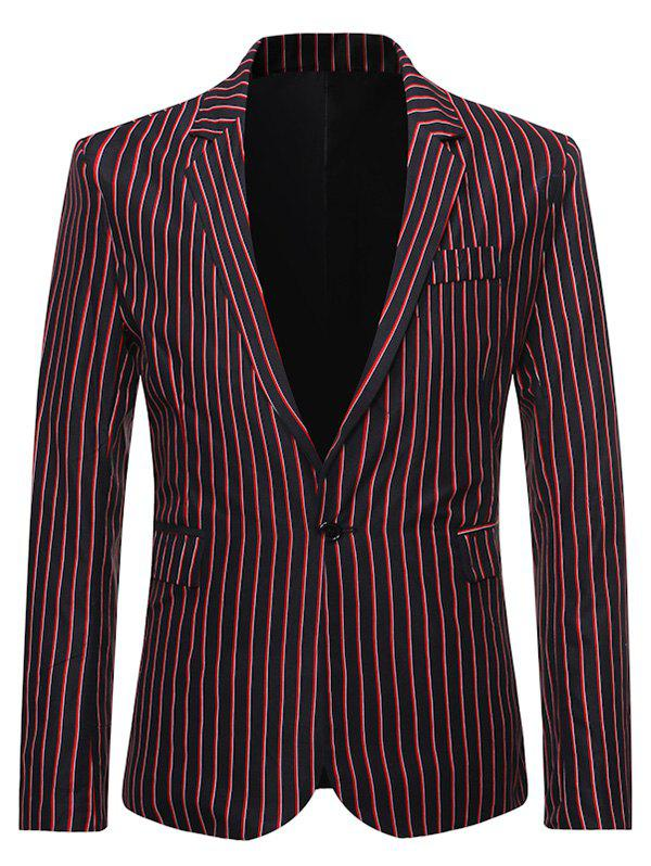 Latest Stripes Flap Pocket Back Split Casual Blazer