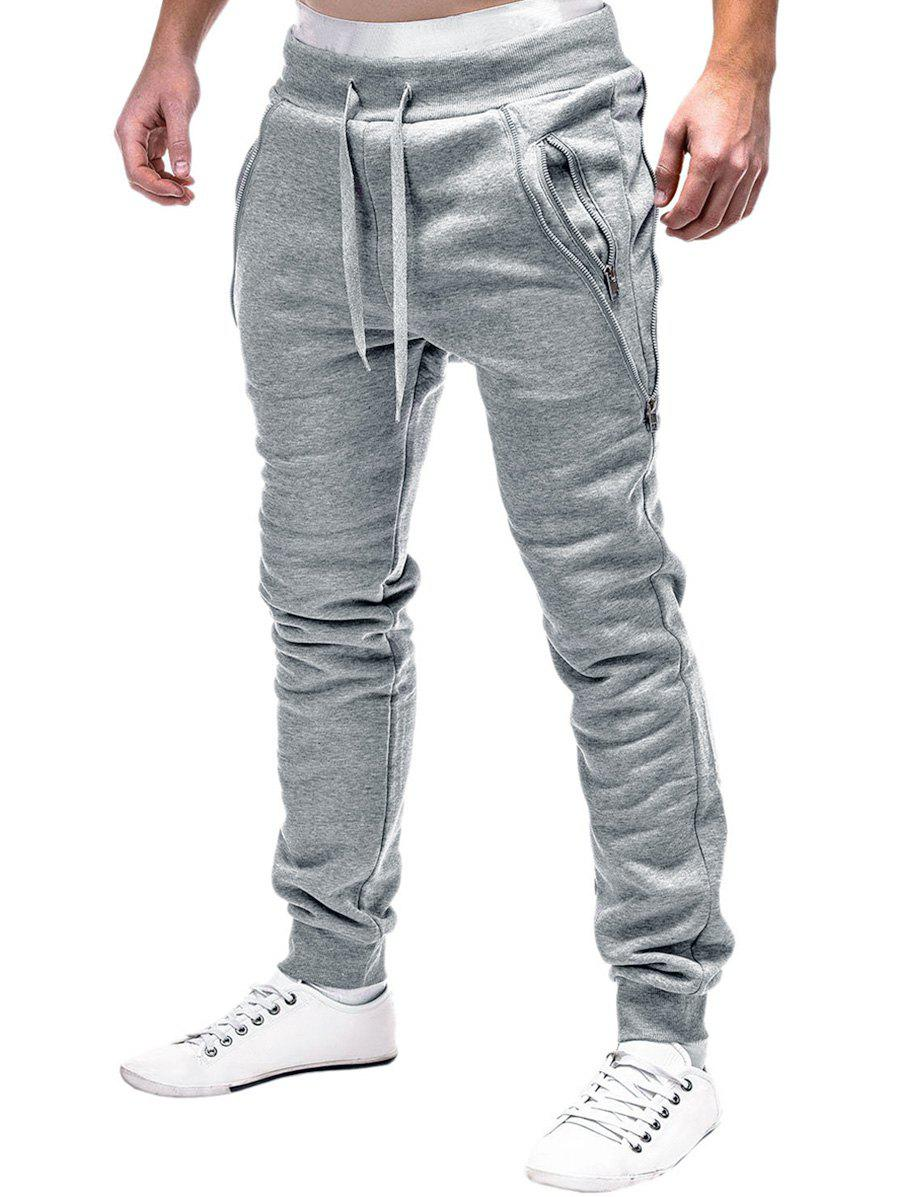 Pantalon de Jogging de Sport Zip Design