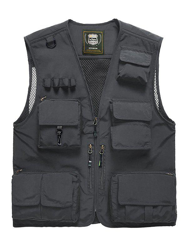 Cheap Multi Pocket Front Zip Cargo Vest