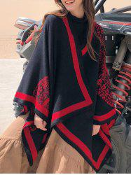 Bohemian Round Patterned Double Faced Shawl -