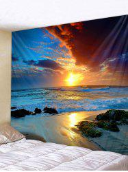 Sunset Sea Pattern Tapestry -