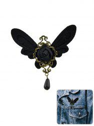 Baroque Butterfly Flower Water Drop Brooch -