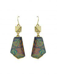 Irregular Shape Gem Dangle Earrings -