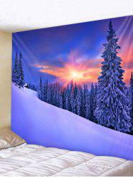 Snow Sunset Pattern Tapestry -