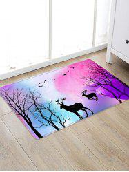 Deer Tree Pattern Floor Rug -