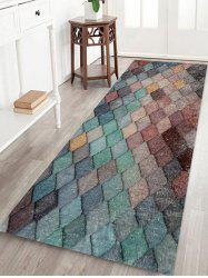 Colorful Rhombic Print Rug -