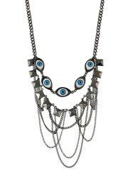 Evil Eye Multi-layer Chain Necklace -