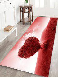 Love Heart Tree Pattern Floor Rug -