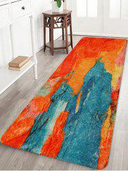 Painting Pattern Print Flannel Floor Mat -