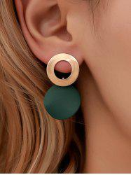 Circle Geometric Alloy Stud Drop Earrings -
