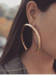Exaggerated Crescent Moon Stud Earrings -
