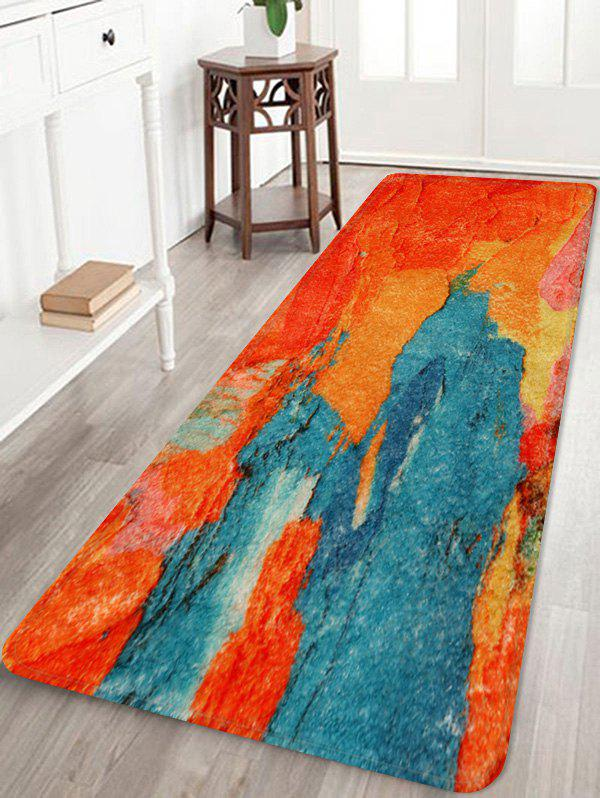 Cheap Painting Pattern Print Flannel Floor Mat