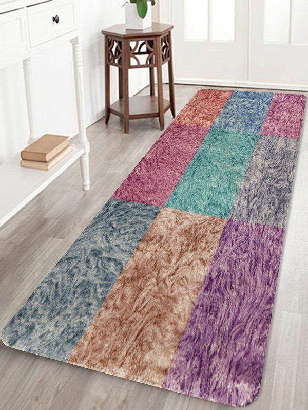 Chic Colorful Square Pattern Non Slip Rug