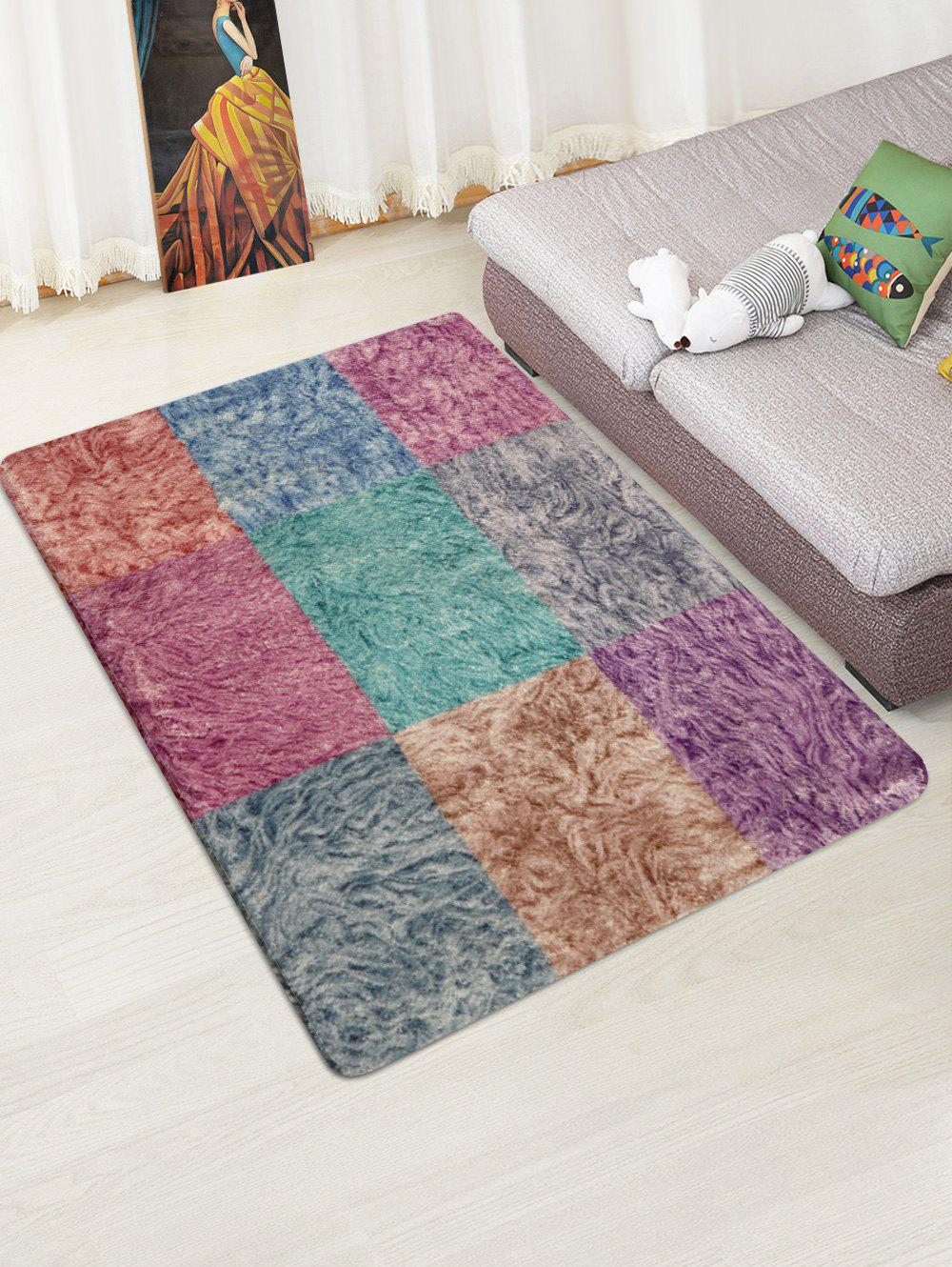 Shops Colorful Square Pattern Non Slip Rug