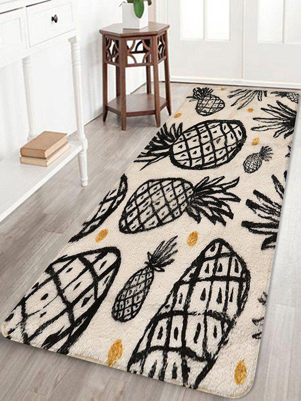 Outfit Pineapple Print Non Slip Rug