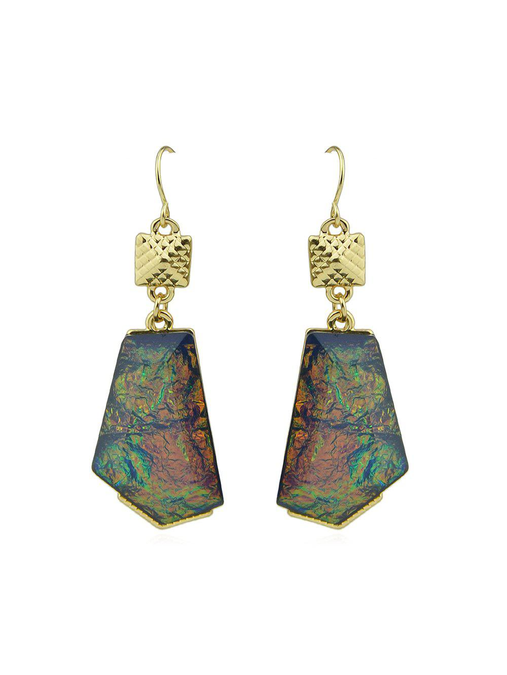 Unique Irregular Shape Gem Dangle Earrings