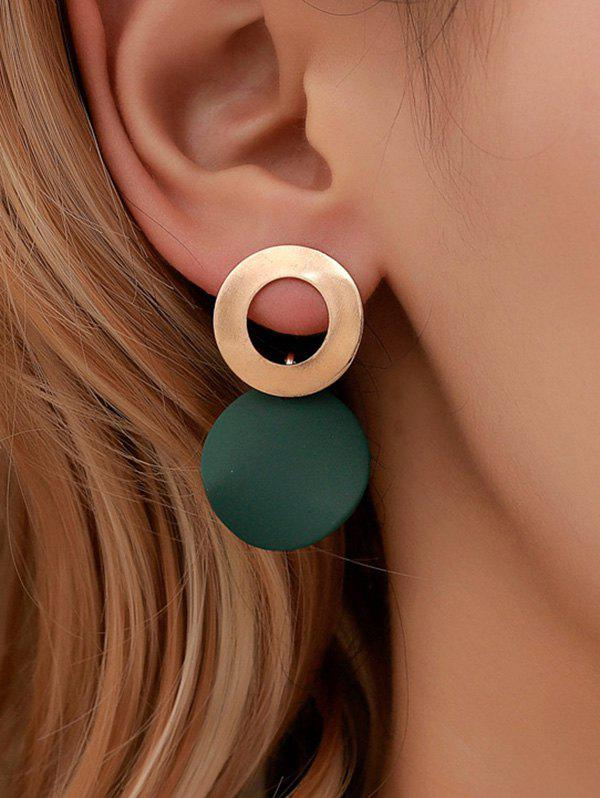 Sale Circle Geometric Alloy Stud Drop Earrings