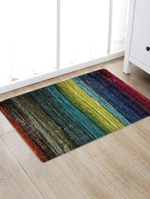 Outfit Colorful Wooden Board Pattern Non Slip Decor Rug
