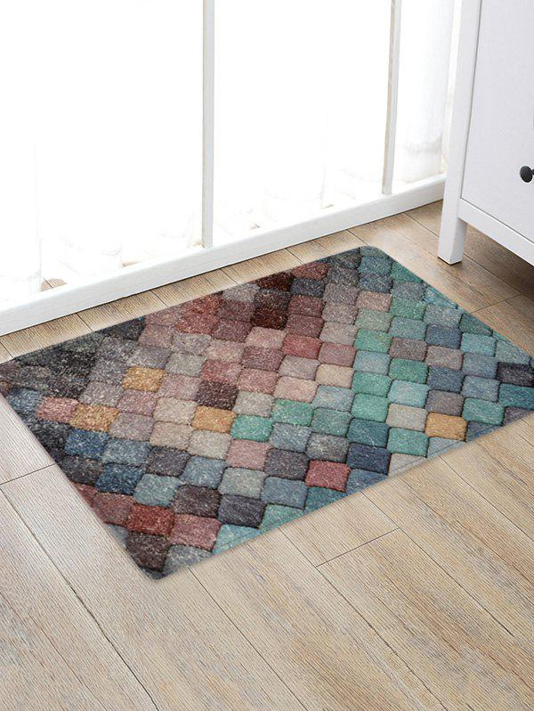 Outfits Colorful Rhombic Print Rug