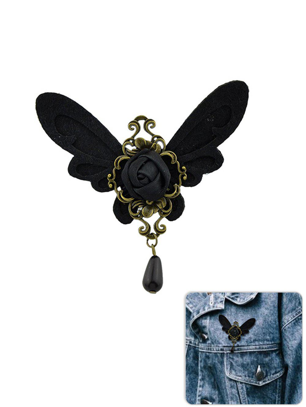Outfit Baroque Butterfly Flower Water Drop Brooch