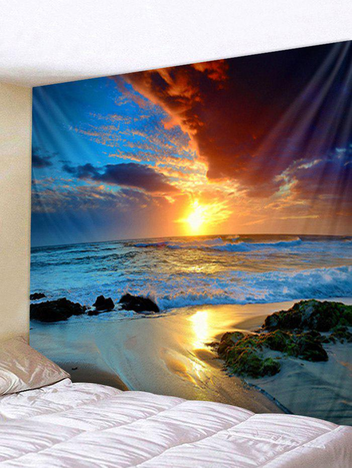Shops Sunset Sea Pattern Tapestry