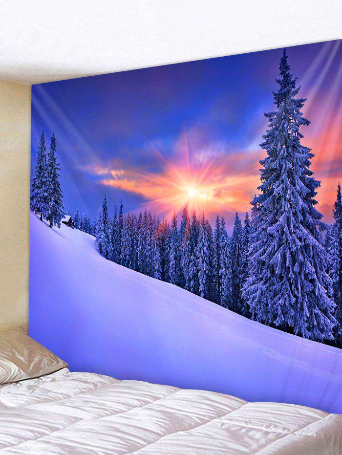 Fashion Snow Sunset Pattern Tapestry