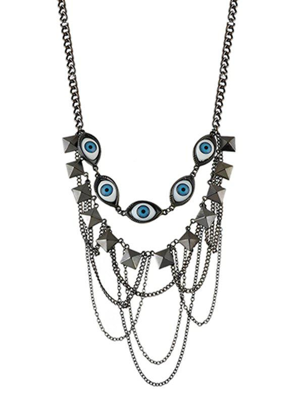 Affordable Evil Eye Multi-layer Chain Necklace