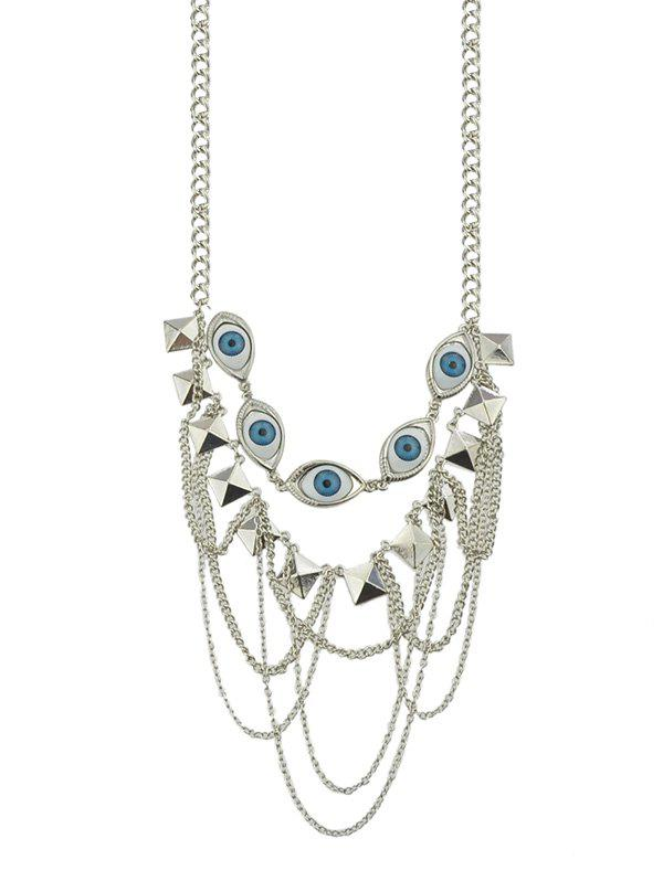 Hot Evil Eye Multi-layer Chain Necklace