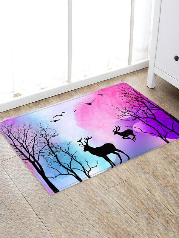 Store Deer Tree Pattern Floor Rug
